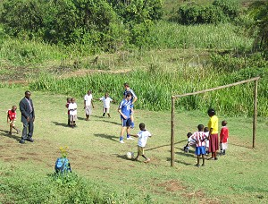 A game of football in Uganda